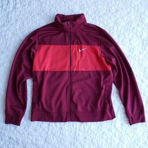 Nike Colorblock Red Maroon Track Jacket